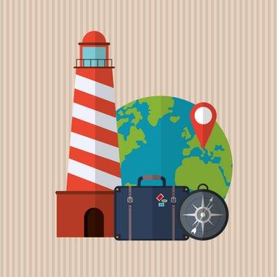 Poster Viaggi icona di design
