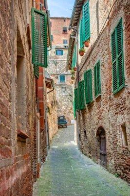 Poster Vicolo nel centro storico Toscana Italia