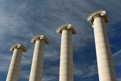 Poster Vier Säulen, Barcellona