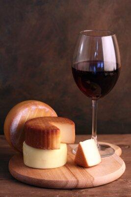 Poster Vino e formaggio