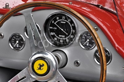 Poster Vintage Ferrari cruscotto
