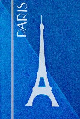 Poster Vintage Paris postale - calligrafia - elemen scritto a mano