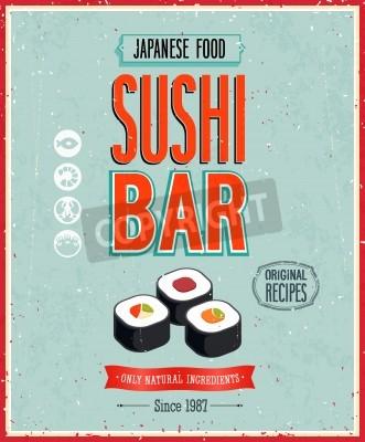 Poster Vintage Poster Sushi Bar.
