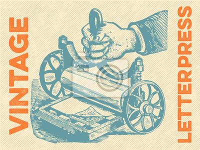 Poster Vintage tipografica vettore