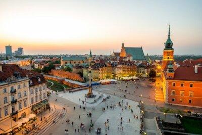 Poster Vista dall'alto della città vecchia di Varsavia
