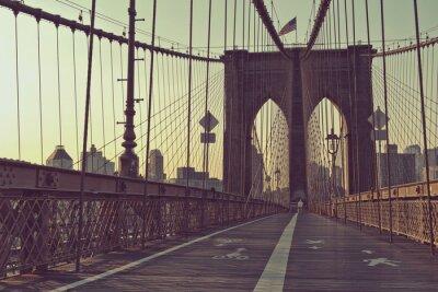 Poster Vista lungo il passaggio pedonale, Ponte di Brooklyn