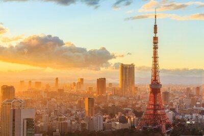 Poster vista panoramica di Osaka dall'ultimo piano dell'edificio più alto