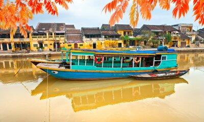 Poster Vista sulla vecchia città di Hoi An. Vietnam
