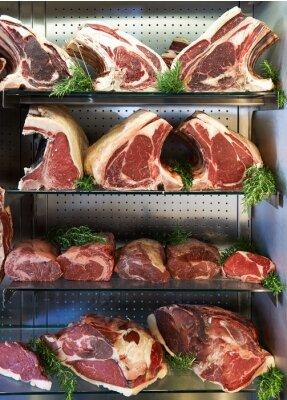 Poster Visualizzazione di Dry Carne affinato in macelleria