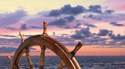Poster Volante della nave a vela vecchio