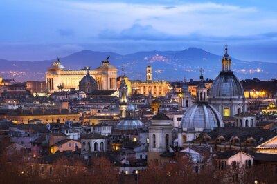 Poster Vue des toits de Rome