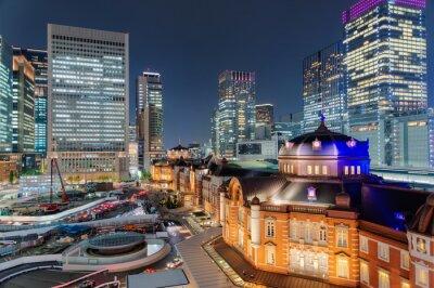 Poster 東京 駅 夜景