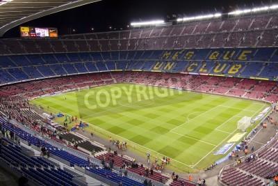 Poster BARCELLONA - 16 dicembre: Vista dello stadio Camp Nou prima della partita di campionato spagnolo tra Barcellona e Atletico de Madrid, punteggio finale 4-1, il 16 dicembre 2012, a Barcellona, Spagna