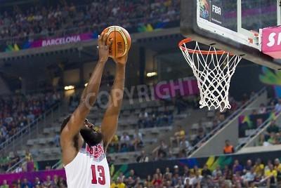 Poster James Harden degli USA in azione al FIBA World Cup partita di basket tra USA Team e la Lituania, punteggio finale 96-68, 11 settembre 2014, a Barcellona, Spagna