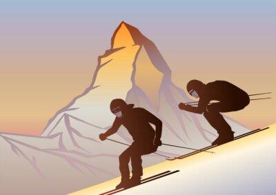 Poster Kayakçılar ve Cervino