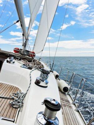 Poster yacht è virata in mare Adriatico