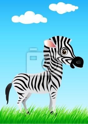 Zebra divertente cartone animato manifesti da muro u2022 poster ridere