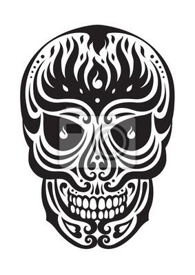 Poster zucchero cranio giorno del disegno illustrazioni morti
