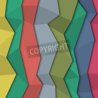Quadro 3d carta sfondo colorato - in stile origami.