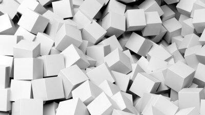 Quadro 3D cubi bianchi mucchio astratto
