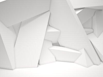 Quadro 3d muro geometrica