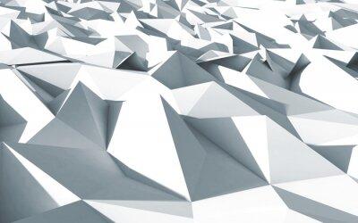 Quadro 3d polygone beau cristaux trama fond blanc
