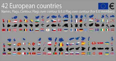 Quadro 42 paesi europei
