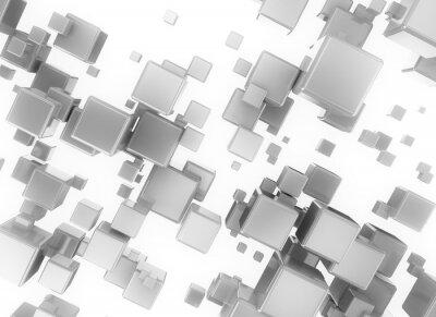 Quadro Abstract 3d digitale cubesisolated su sfondo bianco