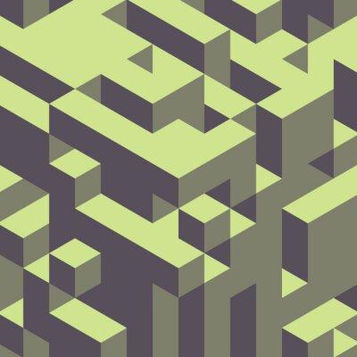 Quadro Abstract 3d geometrico sfondo colorato.
