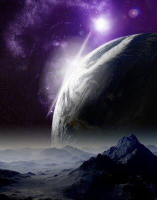 Quadro Abstract background dello spazio profondo. In viaggio lontano futuro. Nuovo
