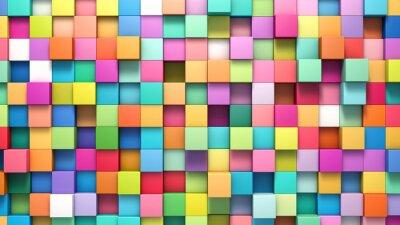 Quadro Abstract background di cubi multi-coloured