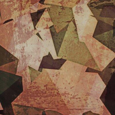 Quadro Abstract background grunge muro, il cubismo