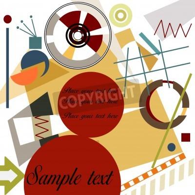 Quadro Abstract geometrical background; Master Kandinsky style