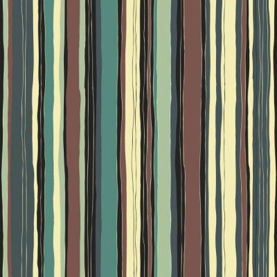 Quadro Abstract retro colori strisce modello. linee disegnati a mano senza soluzione di continuità