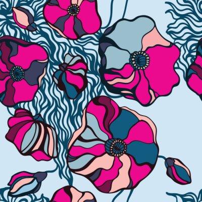 Quadro Abstract sfondo fiori. Seamless pattern