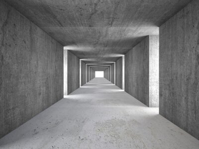 Quadro abstract tunnel