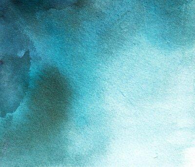 Quadro acquerello astratto macchia blu, sullo sfondo, il divorzio