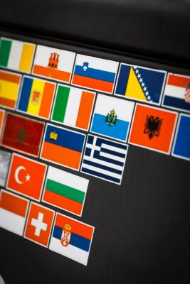 Quadro adesivi Paese bandiera