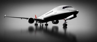 Quadro Aeroplano passeggeri in studio o hangar. Aerei, compagnia aerea
