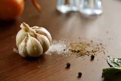 Quadro Aglio, sale, pepe e cipolla