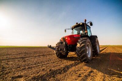 Quadro Agricoltore che fertilizza terra arabile con azoto, fosforo, fertilizzante di potassio