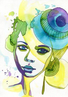 Quadro Akwarelowy ritratto kobiety