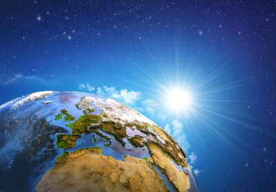 Quadro Alba sopra la Terra