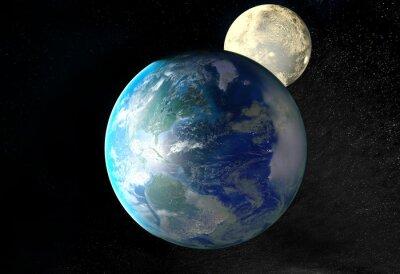 Quadro Alba sopra la Terra vista dallo spazio