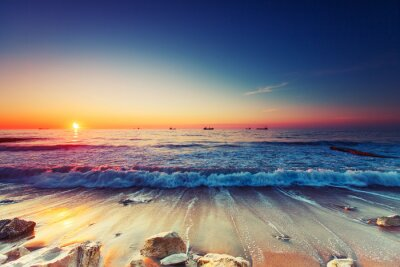 Quadro Alba sul mare