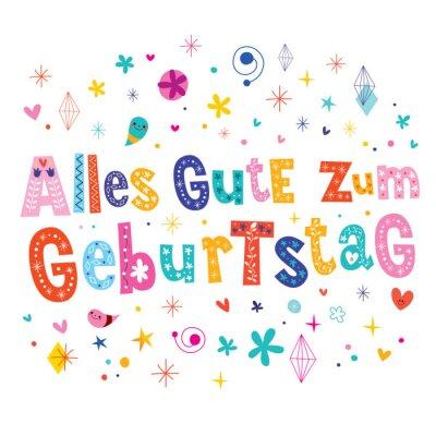 Alles gute zum geburtstag deutsch tedesco biglietto di auguri