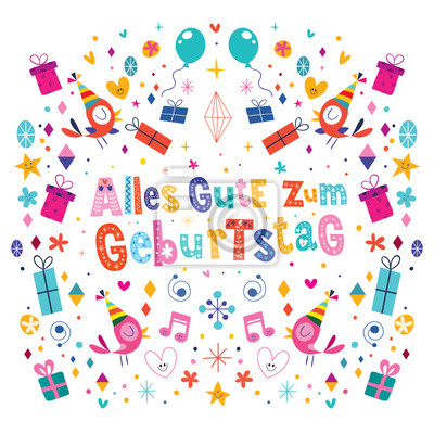 Alles Gute Zum Geburtstag Deutsch Tedesco Buon Compleanno Disegno