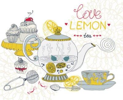 Quadro amore limone carta di tè