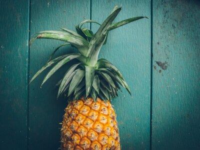 Quadro Ananas sulla struttura di legno