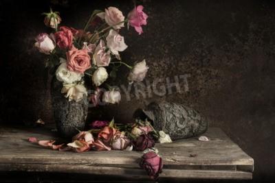 Quadro ancora Fotografia morta con fiori